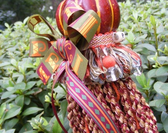 P is for P-U-M-P-K-I-N Tassel, Limited Edition, Only One