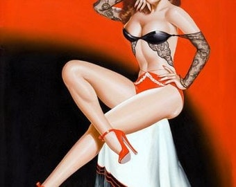 1950's Vintage Pin-Up Girl Poster 6