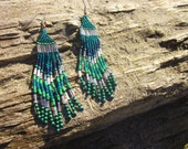 Minty Fresh, Modern Native American Beaded Earrings