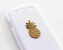 Pineapple Vintage Print Samsung Galaxy S3 Phone Case Cell Phone Samsung Galaxy S3 Cell Phone Cover Cases Gold Cover Girly Cute Bling Vintage