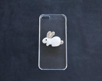 S5 Clear Case S5 Bunny Rabbit Case iPhone 7 Rabbit Bunny iPhone 55s Bunny Rabbit Crystal iPhone Case Clear iPhone 5 Case