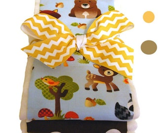 Forest Friends Burp Cloth Set - Baby Shower Gift