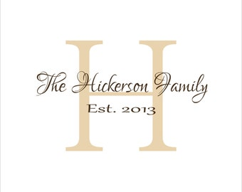Family Established Family Wall Decal  #2