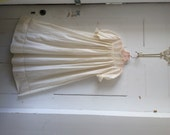 Antique Victorian Cotton Baby Christening Gown Dress with Valenciennes Lace
