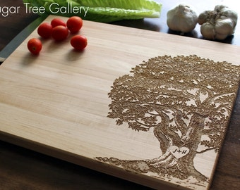 Personalized Cutting Board, Christmas Gift, Family Tree, Gift For Her, Gift For Mom, Mens Gift, Wedding Gift, Anniversary,Tree Cutting Board