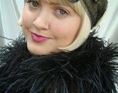Black and Silver Sequin 1920s Juliet Cap, Great Gatsby and Downton Abbey Inspired