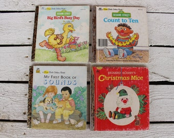 4 First Little Golden Books, Lot of First Little Golden Books, Small Little Golden Books