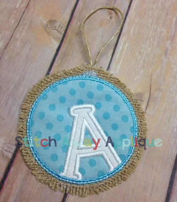 In The Hoop Burlap Christmas Ornament Alpha Machine Embroidery