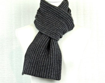 Cashmere scarf ,   Charcoal Grey .