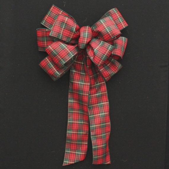 Tartan Plaid Christmas Bows Holiday Mantel Wreath Garland