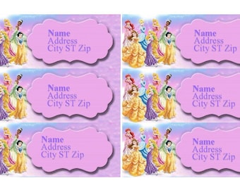Disney Princess Printable Address Labels