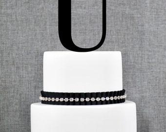 Letter U - Initial Cake Topper, Monogram Wedding Cake Topper, Custom Cake Topper
