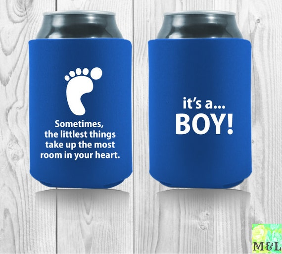 baby shower favor drink coozie    koozie by mintandlemon on etsy