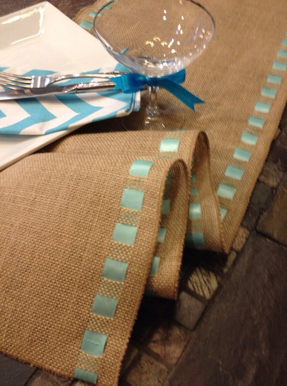 Items similar to burlap ribbon table runner 12 wide by for 120 table runners