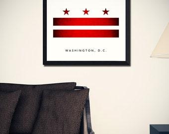 Washington DC Flag Art Print (w/ Free Shipping!)