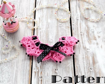 Crochet pattern Baby Collar PDF - Instant Download