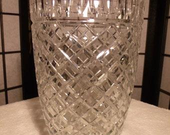 80's BRILLIANT Lead Crystal Vase Vintage