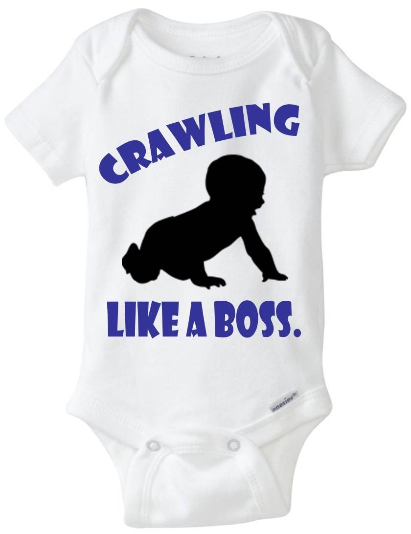 Just Had A Baby Gift Ideas : Funny baby onesie boy gift idea crawling like a