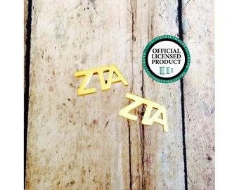Zeta Tau Alpha Letter Stud Earrings | Sorority Earrings | Zeta Tau Alpha Earrings | ZTA Earrings | Sorority Jewelry | ZTA Jewelry | Zeta