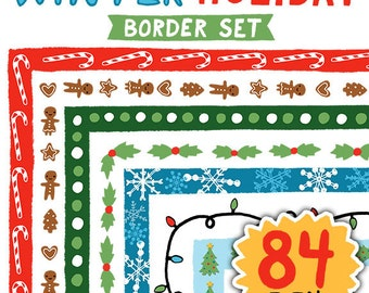 Winter Holiday Border Set