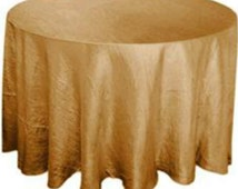 Gold round tablecloth silky gold wedding tablecloth overlay table topper colors available