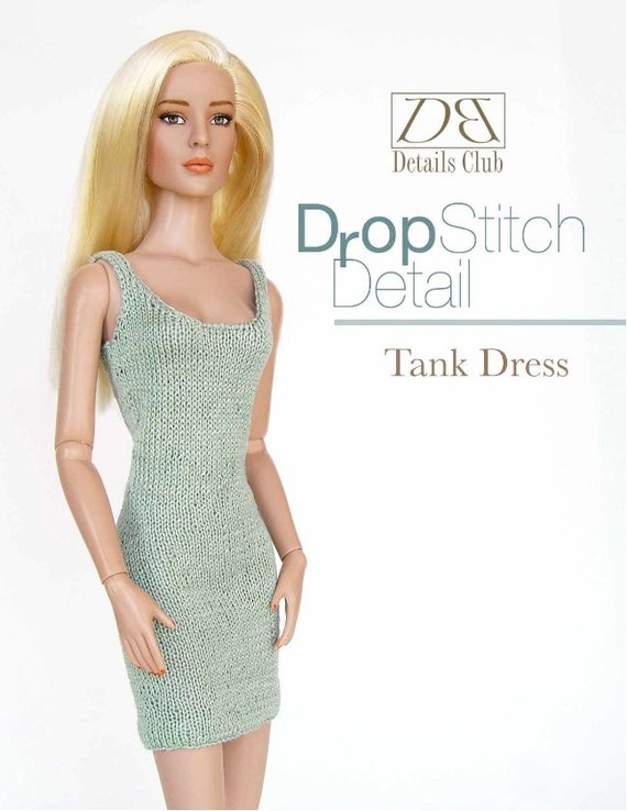 Knitting Patterns For 16 Inch Dolls : Knitting pattern for 16 inch fashion dolls: Tank Dress