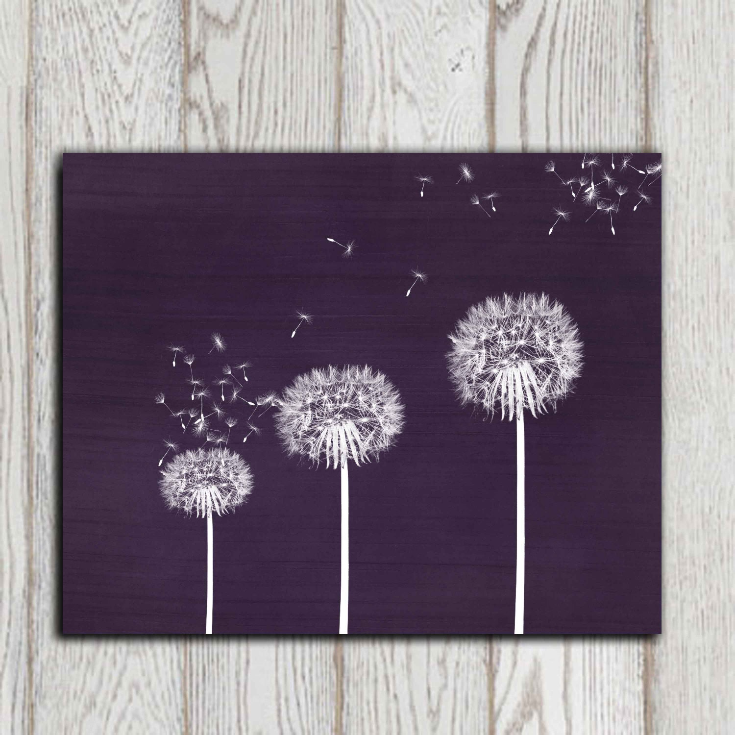 Gift Idea Dandelion Printable Purple Dandelion Print Wall Art Home Decor Canvas Bedroom Wall Decor 5x7