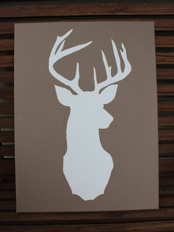 Deer Head Silhouette Painting