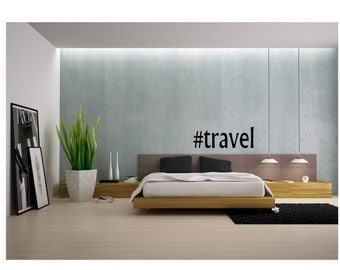 Hashtag Travel Wall Decal