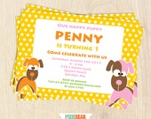 Puppy Invitation - Puppy Party Invitation - Puppy Birthday Invitation - Dog Birthday - Dog Party - Puppy Invitation (Instant Download)