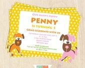 Puppy Invitation - Puppy Party Invitation - Puppy Birthday Invitation - Dog Birthday - Dog Party - Puppy Invitation (Instant Download)