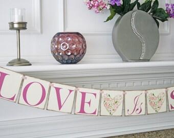 Wedding Banner - Love is Sweet Banner -  Wedding Photo Prop  - Wedding Sign - Love Is Sweet sign
