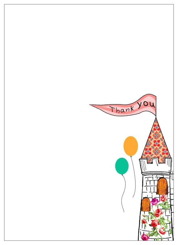Digital Castle Thank you card.