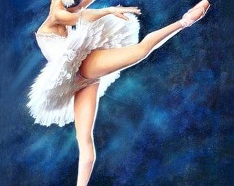 Art Print of Original Oil Painting: Ballerina