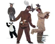 Toddler Halloween Costumes McCalls 3351/P988 PANDA Bear, Kangaroo, Reindeer, Koala Bear -One Piece Suit with Hood, Mitts, Boots Sz Child 2-4