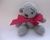 Get well soon sympathetic crochet amigurumi bear - colour options for ribbon bow.