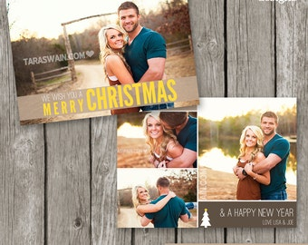Christmas Card Photo Template - Holiday Card - Christmas Template for Photographers - CC15