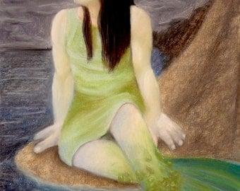 Mermaid drawing - chalk pastels