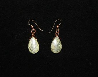 Russian Jade Teardrop Earrings
