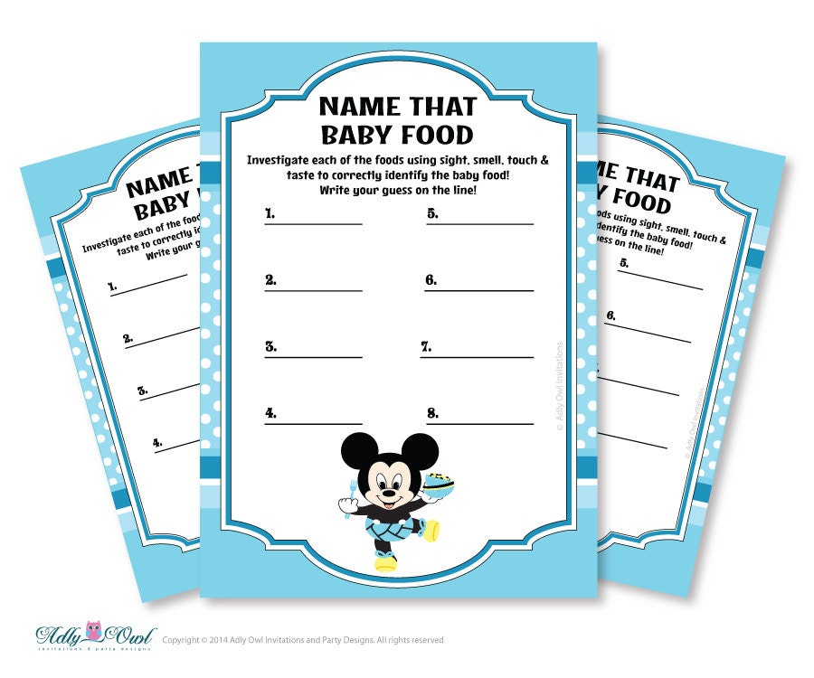 boy mickey mouse name that food baby food guess game