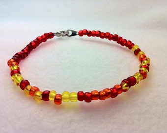 Girl On Fire Morse Code Bracelet