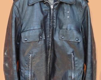 70's Police Leather Jacket