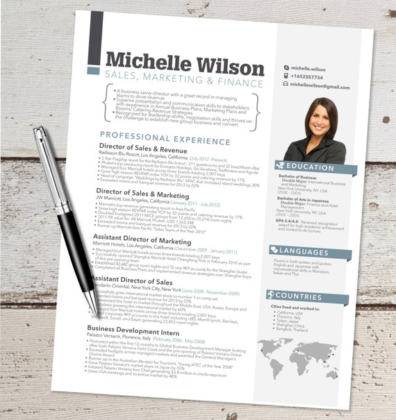 the michelle resume design graphic design marketing