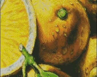 "Cross stitch pattern PDF ""Lemon"""