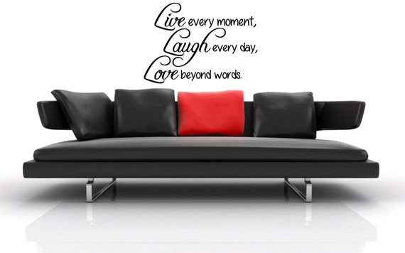 Beyond Words Customizable Wall Decor Kohls : Live every moment laugh day love beyond by