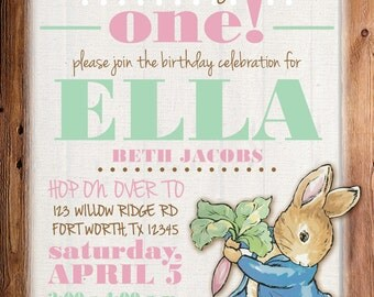 Peter Rabbit Invitation, Peter Rabbit Birthday Invitation, Peter Rabbit Birthday