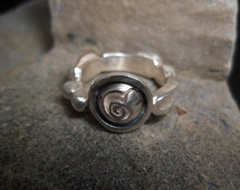 "Ring in sterling silver and copper ""variable mood"""