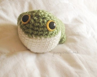 Cute Amigurumi Frog   Made to Order