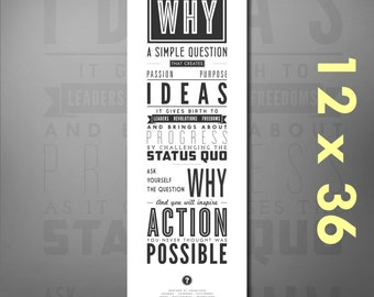 Ask Why: Inspirational Quote Print Poster. Motivational Wall Decor for Science Teachers, Scientists, Schools, Students, Classrooms, Colleges