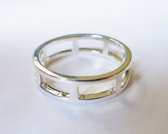 Silver Plated Cut-Out Ring